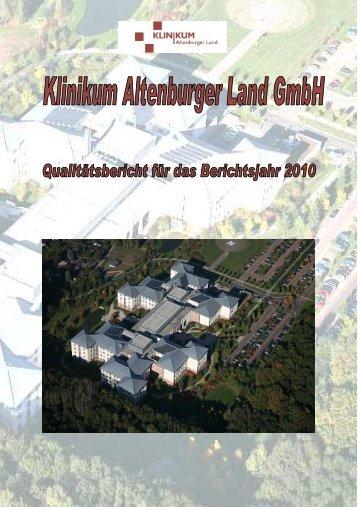 Qualitätsbericht 2010 - Klinikum Altenburger Land GmbH