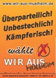 Serie von Schriftplakaten - Alternative Kommunalpolitik