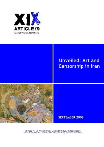 Unveiled: Art and Censorship in Iran - Article 19