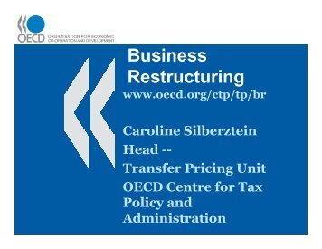 Business Restructuring - Foundation for International Taxation