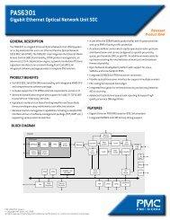 PAS6301 Gigabit Ethernet Optical Network Unit SOC Product Brief