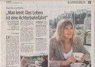 Kurier: Interview mit Elke Weichenberger - Myelom Hilfe Österreich