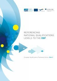 referencing national qualifications levels to the eqf - European ...