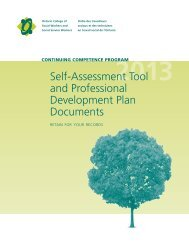 Self-Assessment Tool and Professional Development Plan Documents