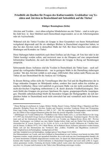Benninghaus: Grabkultur Yeziden [PDF] - Yeziden-Colloquium