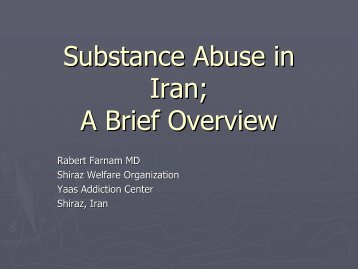 Substance Abuse in Iran; A Brief Overview - UCLA Integrated ...