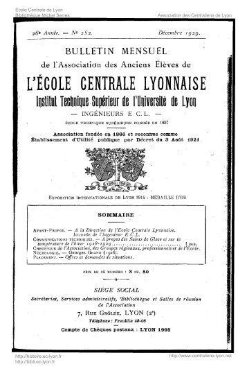 Revue Technica, année 1930, numéro 252 - Histoire de l'École ...