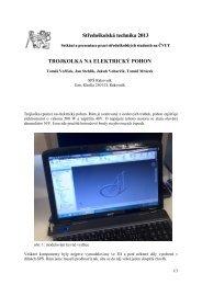 Středoškolská technika 2013 TROJKOLKA NA ELEKTRICKÝ POHON