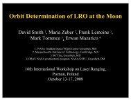 Orbit Determination of LRO at the Moon - Crustal Dynamics Data ...