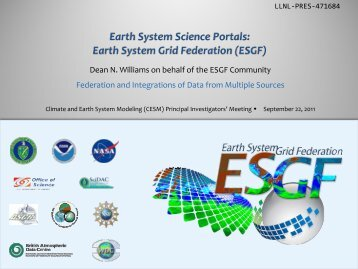 GO-ESSP and ESGF - Climate and Earth System Modeling