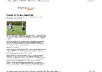 Seite 1 von 4 Alb Bote - (2007-11-05 00:00:00) - Goldenes Tor von ...