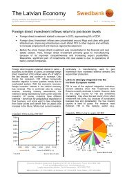 Foreign direct investment inflows return to pre-boom ... - Swedbank