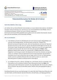 Kinder - Westdeutsches Tumorzentrum Essen