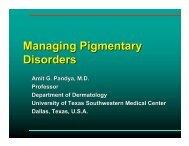 Managing Pigmentary Disorders