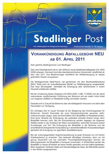 Stadlinger Post - Stadl-Paura