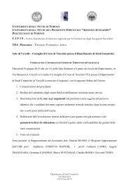 universita' degli studi di torino - Università del Piemonte Orientale ...