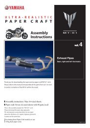 ULTRA-REALISTIC PAPER CRAFT MT-01 Vol.4/Exhaust Pipes ...