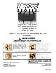 AO 14ft Variable-Bounce Trampoline System (INS-P ... - JumpSport