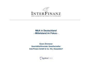 M&A in Deutschland - Mittelstand im Fokus - - 25-jahre-ghp.de