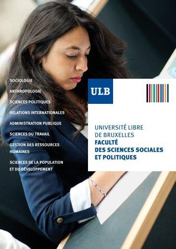 Consulter notre brochure ici - Faculté des Sciences sociales et ...