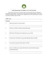 Family Questionnaire - Key School