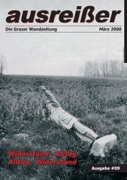 ausreisser märz 2006.indd - ausreißer - die grazer wandzeitung - Mur
