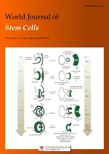 World Journal of Stem Cells - World Journal of Gastroenterology