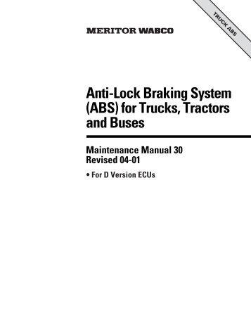 Absasr d cab version anti lock braking system wabco anti lock braking system abs for trucks meritor wabco sciox Choice Image