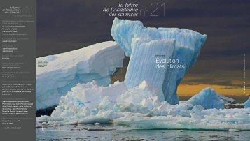 Évolution des climats - La Lettre n°21 - Académie des sciences