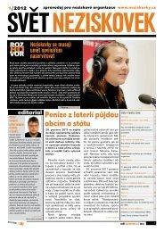 Svět neziskovek 1/2012 - Neziskovky
