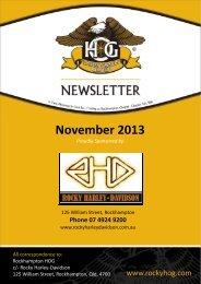 November 2013 - Rockhampton HOG Chapter 9116