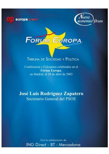 José Luis Rodríguez Zapatero - Nueva Economía Fórum