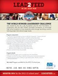 Lead2Feed High School Leadership Program - South Dakota Team ...