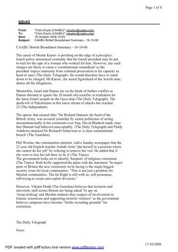 ij@uk2 Page 1 of 8 17/10/2006 CAABU British Broadsheet Summary ...
