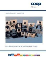Coop Norge SA 1. tertial 2012