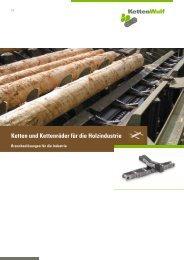 Ketten und Kettenräder für die Holzindustrie - KettenWulf