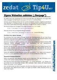 Hochschulrechenzentrum chschulrechenzentr m u - Zedat - Freie ...