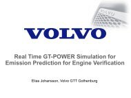 Real Time GT-POWER Simulation for Emission Prediction for ...