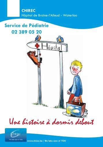 Brochure Pédiatrie pour Braine-L'Alleud - Waterloo - Chirec