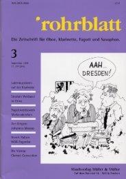 Interview im Rohrblatt - Johannes Moesus