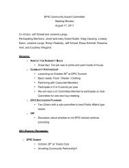 EPIC Community Impact Committee Meeting Minutes August 17 ...