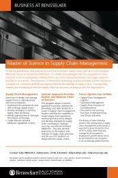 MS in Supply Chain Management Program - Lally School of ...