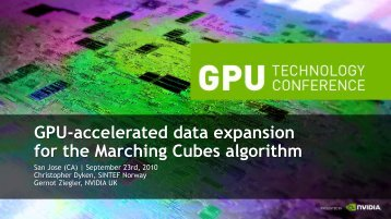 Gpu-accelerated data expansion for the Marching Cubes algorithm