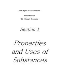 Properties and Uses of substances