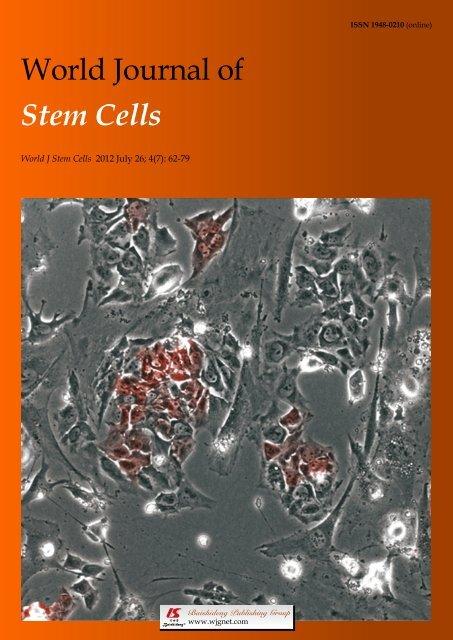 World Journal of Stem Cells - World Journal of Gastroenterology