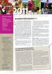 Télécharger le bilan 2011 - Comité départemental du tourisme du Lot