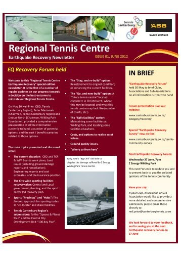 Regional Tennis Centre - Canterbury Tennis