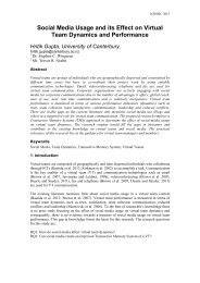 NZISDC 2013 paper: Social media usage and its effect on virtual ...