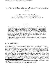 Weather modelling using a multivariate latent Gaussian model