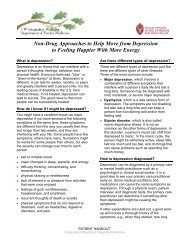 Non-Drug Approaches To Help Move From Depression - UW Family ...